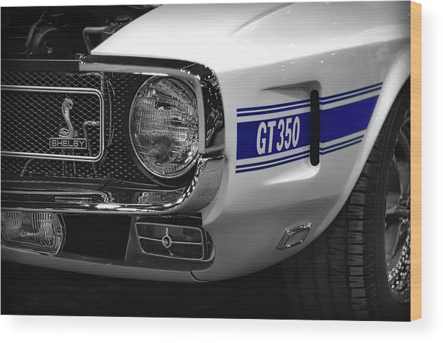 1970 Wood Print featuring the photograph 1969 Ford Mustang Shelby Gt350 1970 by Gordon Dean II