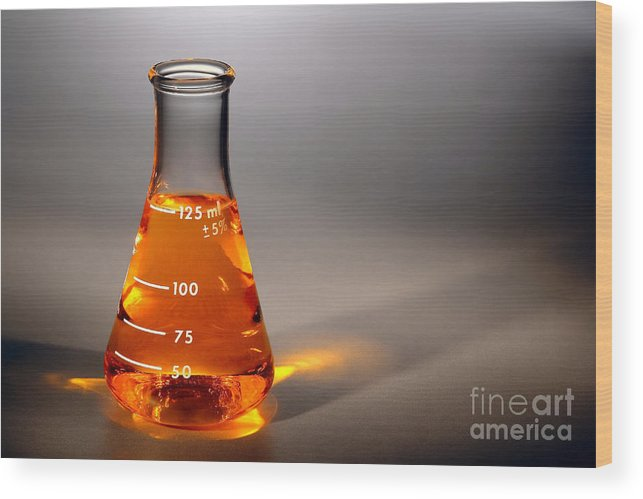 Scientific Wood Print featuring the photograph Equipment In Science Research Lab by Olivier Le Queinec