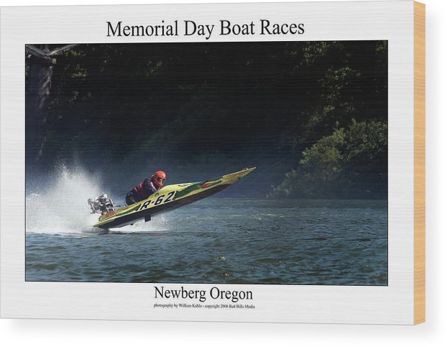 Portland Photographs Wood Print featuring the photograph Memorial Day Boat Races by William Jones