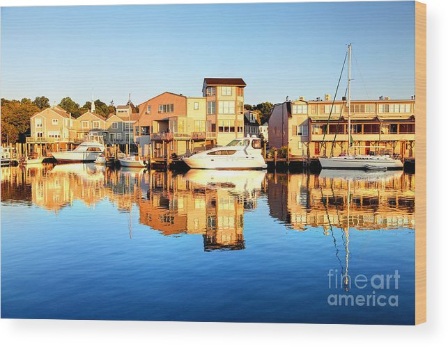 Mystic Wood Print featuring the photograph Mystic Seaport Connecticut by Denis Tangney Jr