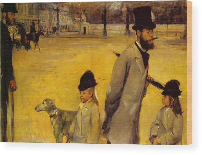Animal Wood Print featuring the painting Place De La Concorde by Edgar Degas