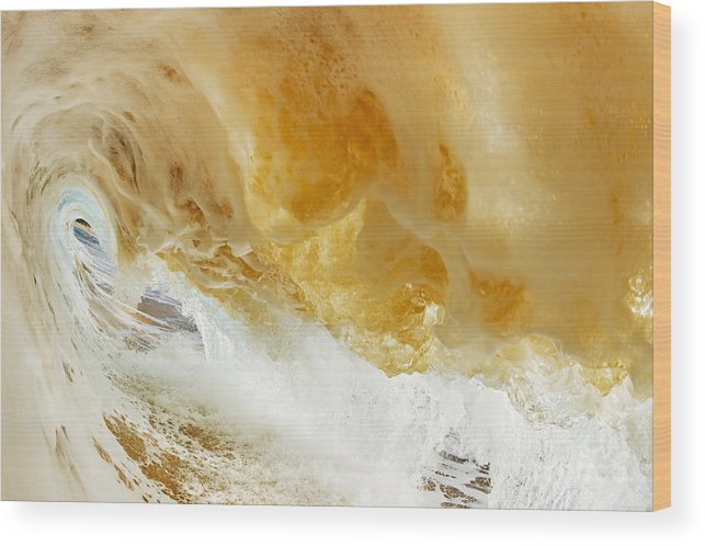 Amazing Wood Print featuring the photograph Sandy Wave by MakenaStockMedia - Printscapes