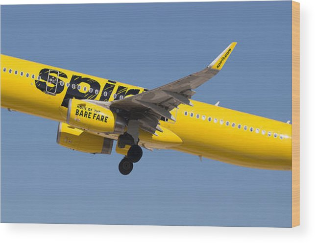 Spirit Wood Print featuring the photograph Spirit Airline by Dart Humeston