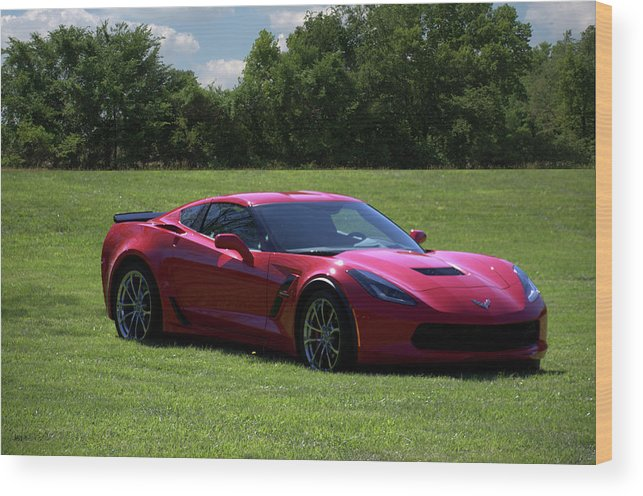 2017 Wood Print featuring the photograph 2017 Corvette by Tim McCullough