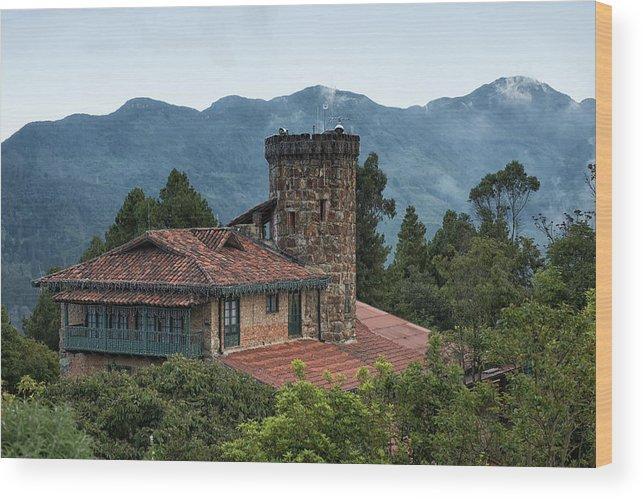 Bogota Wood Print featuring the digital art Bogota Cerro De Monserrate by Carol Ailles