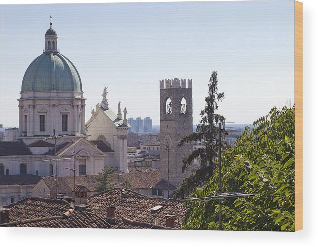 Ancient Wood Print featuring the photograph Duomo by Andre Goncalves