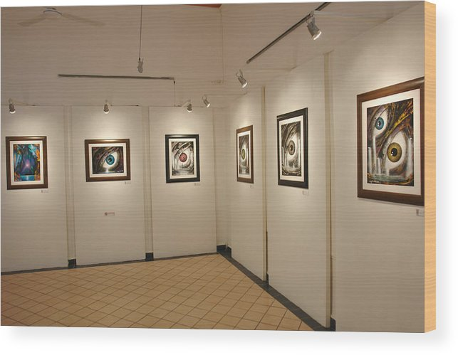 Exhibition Cozumel Museum Wood Print featuring the photograph Exhibition Cozumel Museum by Angel Ortiz