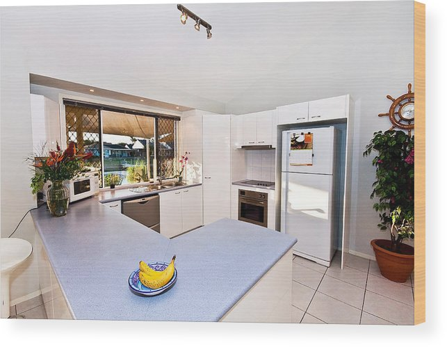 Kitchen Wood Print featuring the photograph Kitchen by Darren Burton