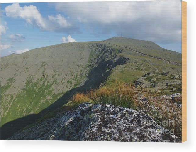 New Hampshire Wood Print featuring the photograph Mount Washington - New Hampshire White Mountains by Erin Paul Donovan