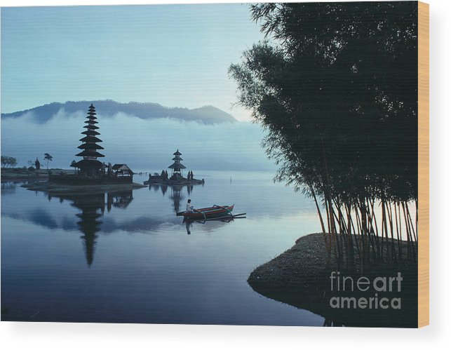 Bratan Wood Print featuring the photograph Ulu Danu Temple by William Waterfall - Printscapes