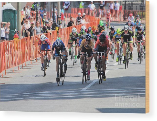Fearless Femme Racing Wood Print featuring the photograph Fearless Femme Racing by Donn Ingemie