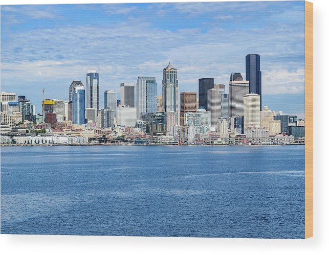 Seattle Wood Print featuring the photograph Seattle Skyline by Cityscape Photography