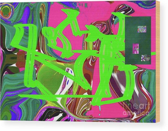Walter Paul Bebirian Wood Print featuring the digital art 4-19-2015babcde by Walter Paul Bebirian