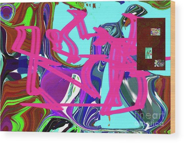 Walter Paul Bebirian Wood Print featuring the digital art 4-19-2015babcdefghijklmnopqrtu by Walter Paul Bebirian