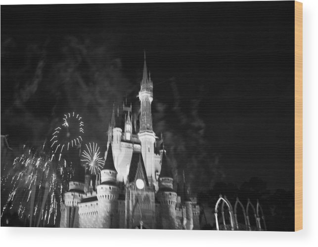 Walt Disney World Wood Print featuring the photograph Cinderella Castle by Rob Hans