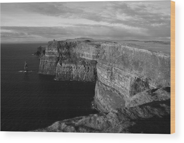 Moher Wood Print featuring the photograph Cliffs Of Moher by John Quinn