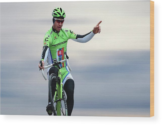 Peter Sagan Wood Print featuring the photograph Peter Sagan 12 by Smart Aviation