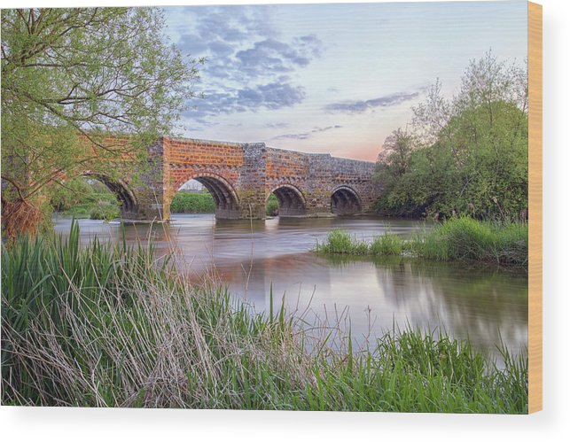 White Mill Bridge Wood Print featuring the photograph White Mill - England by Joana Kruse