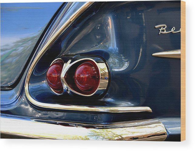Wood Print featuring the photograph 58 Bel Air Tail Light by Dean Ferreira