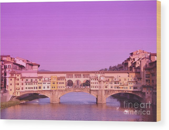 Florence Wood Print featuring the photograph Florence by LS Photography