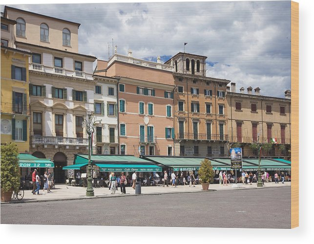 Ancient Wood Print featuring the photograph Streets Of Verona by Andre Goncalves