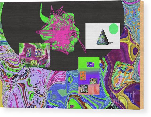 Walter Paul Bebirian Wood Print featuring the digital art 7-20-2015gabcdefghijklmnopqrtuvw by Walter Paul Bebirian