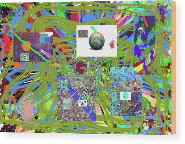 Walter Paul Bebirian Wood Print featuring the digital art 7-25-2015abcdefghijklmnop by Walter Paul Bebirian