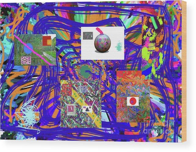 Walter Paul Bebirian Wood Print featuring the digital art 7-25-2015abcdefghijklmnopqrtuvwxyzabcdefghi by Walter Paul Bebirian