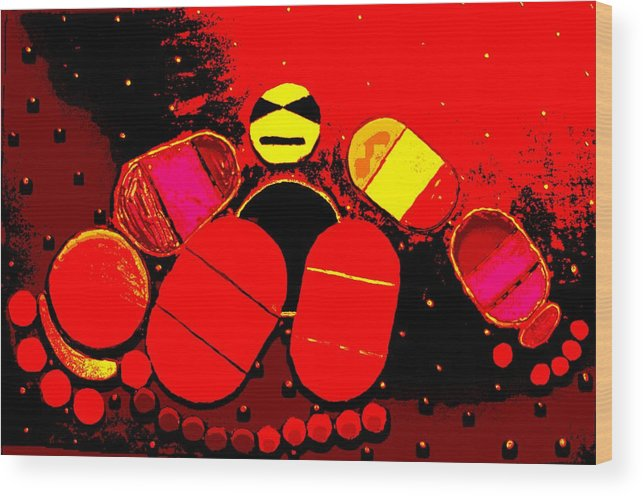 Wood Print featuring the painting Abstract by Jason Gauvreau