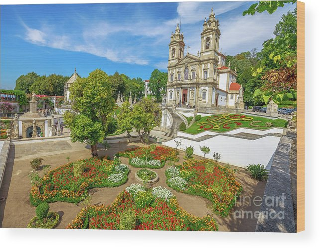 Braga Wood Print featuring the photograph Braga Sanctuary Portugal by Benny Marty