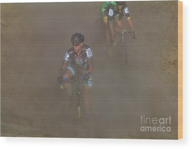 Longsjo Classic Wood Print featuring the photograph Fearless Femme Racing by Donn Ingemie