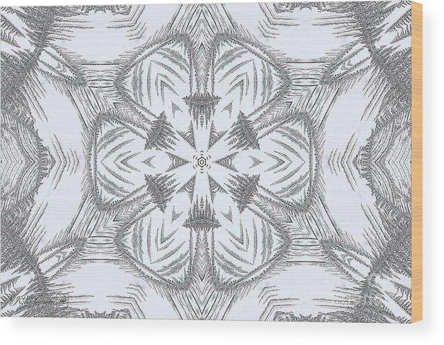 Mccombie Wood Print featuring the digital art Fern Frost Mandala by J McCombie