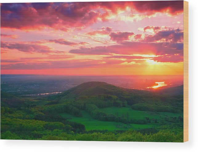 Bonn Wood Print featuring the photograph 7 Hills Of Bonn by Andre Distel