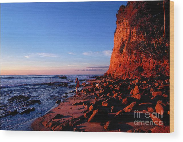 Malibu Wood Print featuring the photograph Malibu Sunrise by Marc Bittan