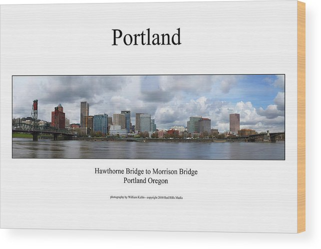 Portland Photographs Wood Print featuring the photograph Portland by William Jones