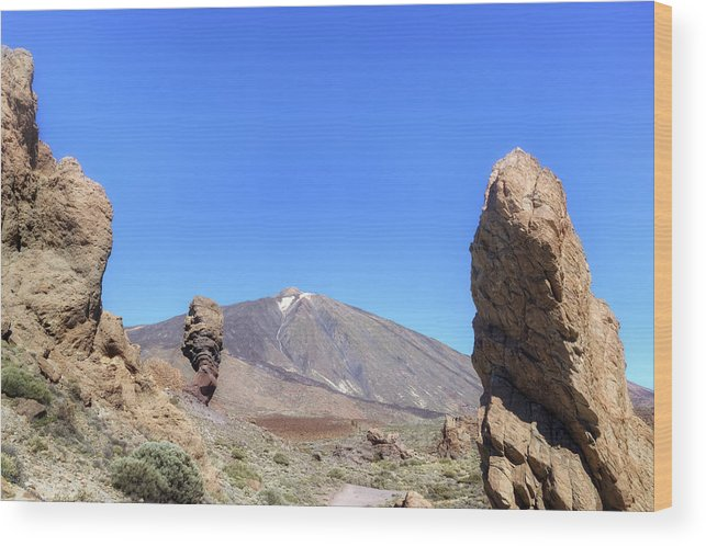 Tenerife Wood Print featuring the photograph Tenerife - Mount Teide by Joana Kruse