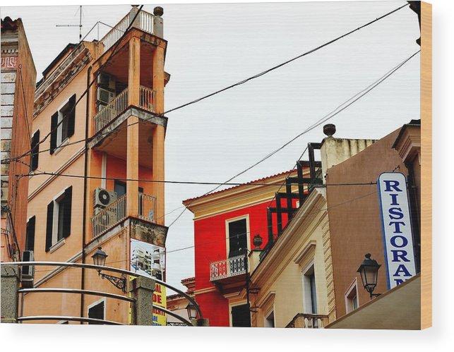 City Scene Wood Print featuring the photograph La Maddalena -sardinia by Gianni Bussu