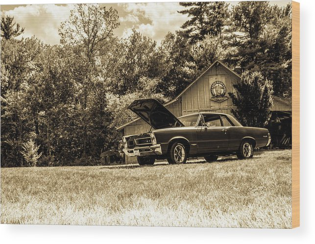 Classic Wood Print featuring the photograph Classic Cars by Mickie Bettez