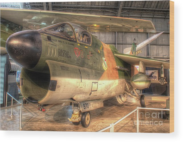 Dayton Wood Print featuring the photograph A-7 Corsair by Greg Hager