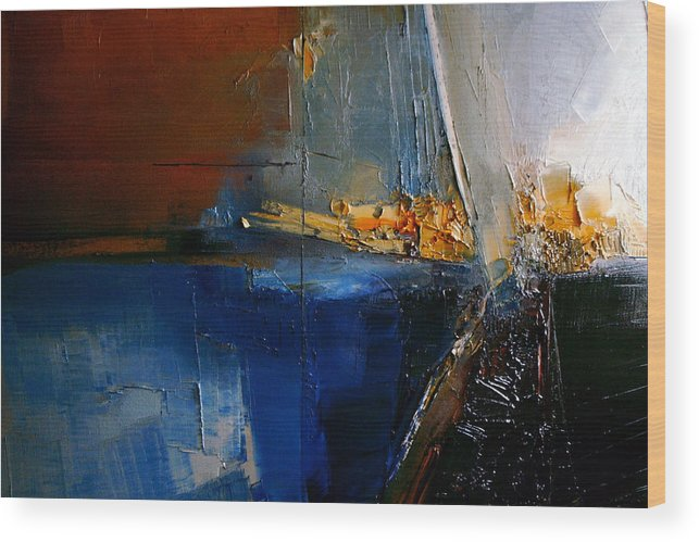 Abstract Wood Print featuring the painting A Lucid Memory by Stefan Fiedorowicz