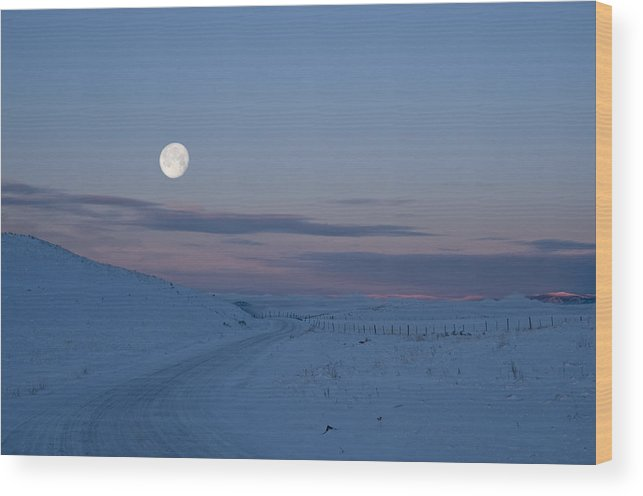 Moon Wood Print featuring the photograph A New Beginning by Peter Olsen