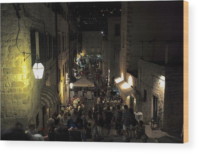 Dubrovnik Wood Print featuring the photograph A Night In Dubrovnik by Piotr Kuzniar