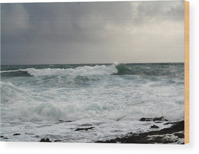 Ireland Wood Print featuring the photograph A Stormy Day In Doolin by Beverlee Singer