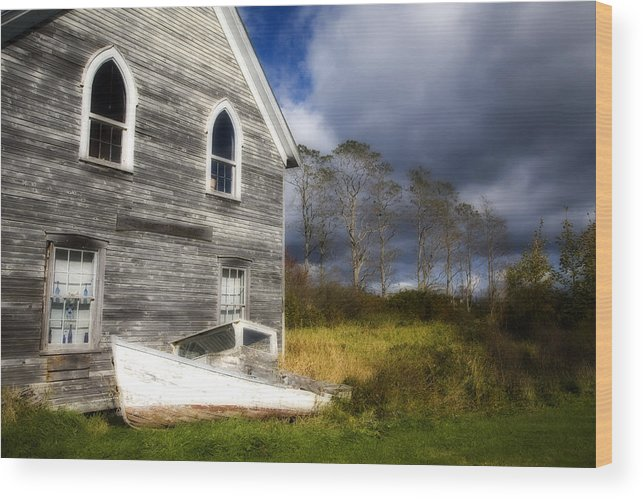 Abandoned Wood Print featuring the photograph Abandoned by Eggers Photography