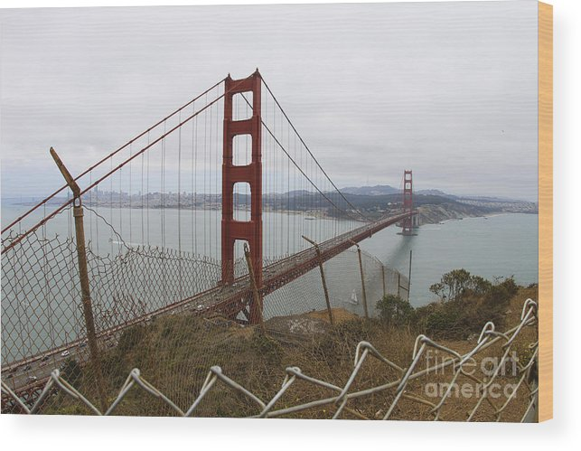 Bridge Wood Print featuring the photograph Above The Golden Gate by Leslie Hunziker