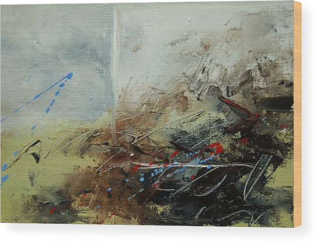 Abstract Wood Print featuring the print Abstract 070408 by Pol Ledent