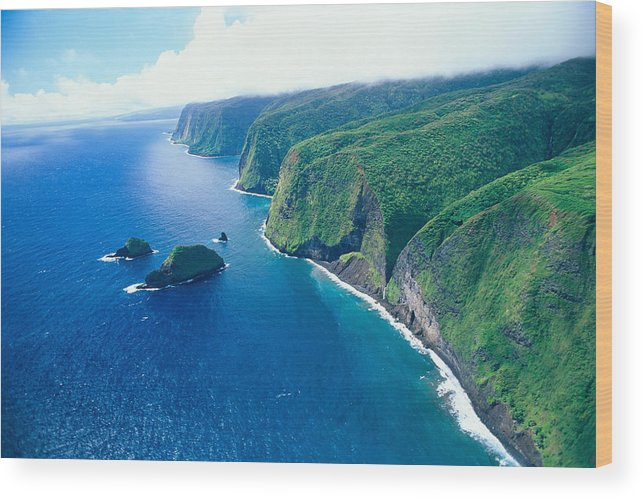 Aerial Wood Print featuring the photograph Aerial Of North Shore by Peter French - Printscapes