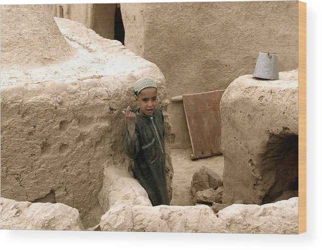 Afghanistan Wood Print featuring the photograph Afghan Child by Thomas Michael Corcoran