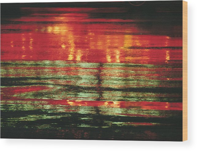 Abstract Wood Print featuring the photograph After The Rain Abstract 1 by Tony Cordoza