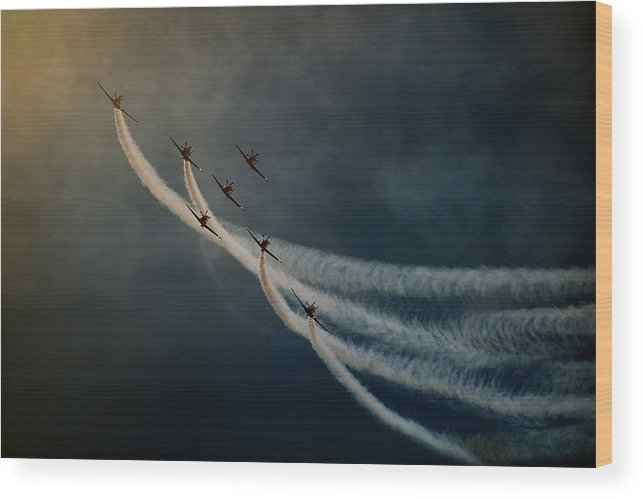 Aviation Wood Print featuring the photograph Air Show. by Antonio Grambone